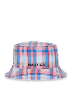 1a16ab27594 Nautica Men s Plaid Reversible Bucket Hat - Pale Coral - S M