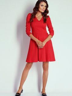 09d533fd0ca0 Dámské šaty NAOKO - bledě červená Red A Line Dress