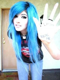 Ledabunny blue scene hair