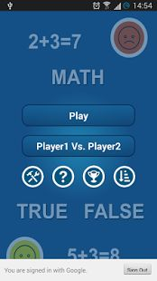 Mathematical Game will help you to improve your maths brain calculation as interactive.