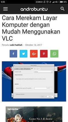 Cara merekam layar dengan mudah menggunakan VLC mba ca selengkapnya di androbuntu.com.