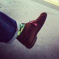 Clarks | Desert Boots | Laces | Socks
