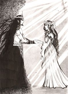 Hades and Persephone- the original Phantom of the Opera. He was just so lonely, and when he saw her, he fell in love... and KIDNAPPED HER but I digress. Romantic.