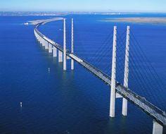 Underwater bridge from Copenhagen, DENMARK to Malmo, SWEDEN
