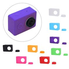 Camera Durable Housing Case Silicone Cover + Lens Protective Cap For Xiaomi Yi #Unbranded
