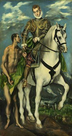 San Martín y el mendigo, El Greco, 1597 - 1599