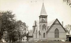 Postcard view of the Amity Reformed Church, Vischer Ferry. 1905