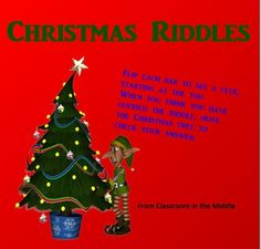 Christmas Riddles for the Smartboard is a quick Smartboard activity that will keep students engaged as the holidays approach. Students make inferences as they flip the Smartboard tiles to uncover clues and solve the holiday themed riddles.  FREE