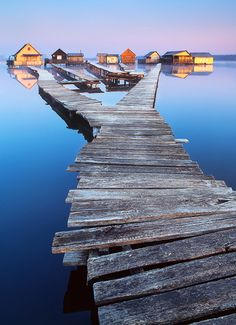 Fishing cottages on Lake Bokod in Hungary. Beautiful Places In The World, Most Beautiful, Amazing Places, Travel Around The World, Around The Worlds, Photo Location, Landscape Photographers, The Good Place, Places To Visit
