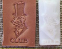 """Custom Leather Stamp or Leather Embossing Die under 1.5"""""""