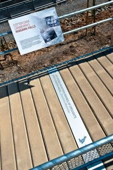 Cotter Dam Ground Plates – Screenmakers of Australia created these environmental graphics for Cotter Dam.