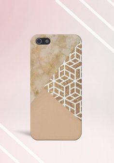 Marble x Gold x Cream Design Case for iPhone 6 6
