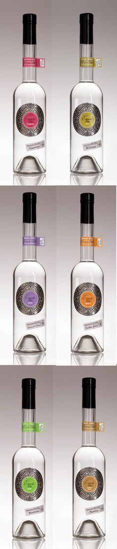 Eau de Vie Flavored Liqueurs  spirit mxm Cool Packaging, Beverage Packaging, Brand Packaging, Packaging Design, Product Packaging, Liquor Bar, Liquor Bottles, Vodka Bottle, Wine Design