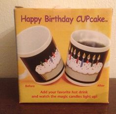 for JENNI: Happy Birthday Cupcake Heat Activated Coffee Mug  New by Wynne Wolfe