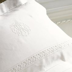 Gabrielle Linen Pillowcases--Cologne & Cotton--BEDROOM--Bed Linen #Cologne & Cotton #Bed Linen