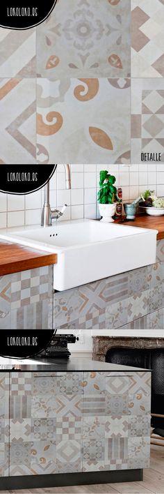 1000 images about wrapping cer micos vinilos para muebles - Forrar azulejos cocina ...