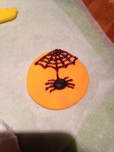 Spider Halloween cupcake topper