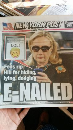 Today's NY Post cover depicting the Clinton scandal