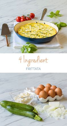4 Ingredient Frittata – So quick, so easy and so perfect as a quick weeknight dinner or fancy brunch - and you can make it ahead of time too!