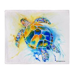 Sea Turtle Stadium Blanket. Many more sea turtle gift items including iPhone skins, and infant clothing. Sea Turtle T Shirts, and Sea Turtle gifts of all kinds can be found here: http://www.cafepress.com/whimzicals/2168851 This particular design can be found at the bottom of the page. Painted and designed by artist, Jo Lynch ...Enjoy