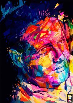 Alessandro Pautasso - Paul Newman. #arte #art #illustration #illustrazione #color