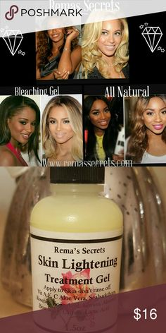 All Natural Bleaching Gel Skin lightening gel dark spot blemishes age spots hyperpigmentation anything you want to lighten 1.3oz by Remas Secrets Other