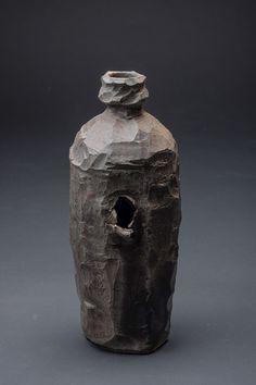 millpondpottery:  Wood fired bottle