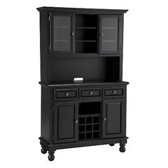 Home Styles Premium Large Buffet and Hutch - Black (HSN)