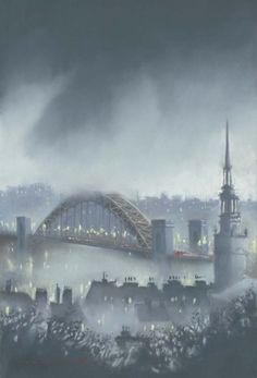 From his collection of new original pastels and limited edition prints Roy Francis Kirton has captured the beauty of the Tyne Bridge with St Nicholas Cathedral. Limited edition print