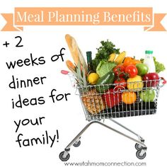 Meal Planning can save you time, money, and your sanity. Plus we have 2 weeks of ideas to get your started!