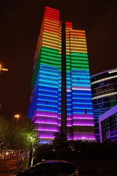 Rainbow building in Brussels