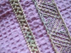 Beaded Embroidery, Hand Embroidery, Sewing Crafts, Diy Crafts, Textile Art, Waffles, Textiles, Crafty, Knitting