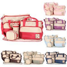7 Grid Diaper Bags for Baby Girls Boys Nappy Changing Inserts Handbag Organizer