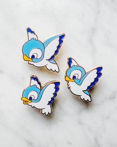 Blue birds from disney Bambi cute pin badge enameled (official pin trading) https://www.instagram.com/ebpins/