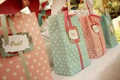 Cute party favor bags.