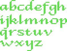Strijkkralen of borduren : Alfabet