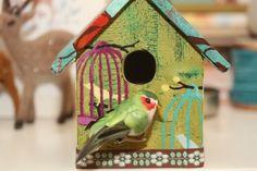 """Vogelhuisje """"Gekooid"""" www.babbelzzz.punt.nl Vogelhuisje / Birdhouse"""