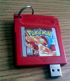 I need this in my life. Pokemon Red USB Drive] So beautiful :O Wish it was Blue though. Mae: Unless it was already broken, whoever made this has wasted an amazing game. Pokemon Rouge, Pokemon Red, Usb Drive, Usb Flash Drive, Game Script, Nerd Love, Catch Em All, Nerd Geek, I Am Game