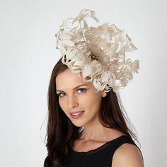 8b16f14b4e2 Star by Julien Macdonald Designer cream oversized flower fascinator Mother  Of The Bride Hats
