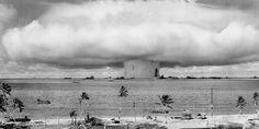 "August 4, 1946 - Bikini Atoll - A year after the atomic bombings of Hiroshima and Nagasaki,  ""One is amazed to find the profound change in the public attitude toward the problem of the atomic bomb."" Because the test did not make a hole at the bottom of the ocean or kill everybody involved, Mr. Laurence's concern was that the public saw this as ""just another weapon."" He called for a reawakening of ""consciousness to the fact"" that this was the ""greatest cataclysmic force ever released on…"