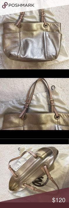 8b73f633d147b8 Authentic gold Michael Kors purse rose handles Perfect Condition. 11x10x4.5 Michael  Kors Bags