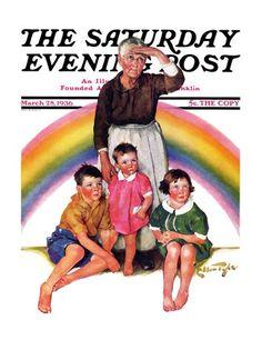 Rainbow by Ellen Pyle, March 28, 1936, Saturday Evening Post.