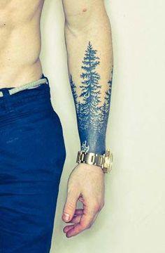 tatouage homme avant-bras arbre