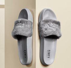 a673df72fa0a64 Login on Twitter. Rihanna x Puma Fur Slides By Fenty Leadcat Slippers  Womens Sandals Gray