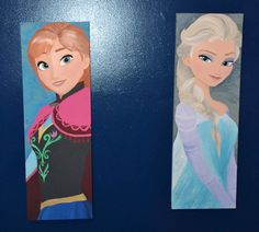 Frozen Inspired 2 Canvas Painting Set Princess by 21CannonSalute, $100.00