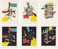 Libre dels sis sentits (complete set of 6 works) by Joan Miró on artnet Auctions selected by www.onlyart.eu