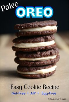 Paleo Oreo Cookie (egg-free, AIP, vegan option)