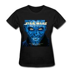 QDYJM Women's Star Wars The Phantom Menace Motion Soundtrack T-shirt - Black at Amazon Women's Clothing store: