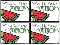 You re One in a Melon Gift tag freebie by Literacy with the Littles Teachers Pay Teachers Thank You Printable, Free Printable Tags, Student Gifts, Teacher Gifts, Employee Appreciation Gifts, Volunteer Appreciation, Thank You To Parents, Open When Cards, Volunteer Gifts