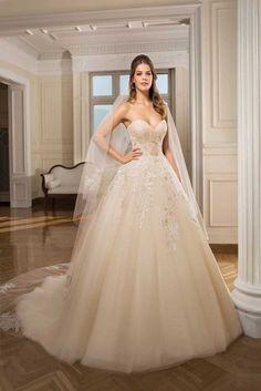 Vestidos corte princesa de novia